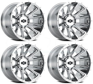 20x9 Chrome Wheels Vision 391 Rebel 8x170 12 set Of 4