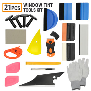 21 Pcs Car Window Tint Wrapping Vinyl Tools Squeegee Scraper Applicator Kits