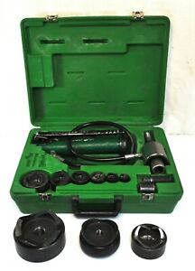 Greenlee 7676 Ram 746 Hydraulic Knockout Punch Driver Set 1 2 2 2 1 2 3 4