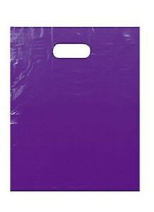 1000 Purple Plastic Bags Shopping Merchandise Retail Gift 12 X 15 Diecut