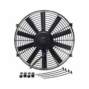 Derale Performance Straight Blade Electric Fan 1 100 Cfm Puller 14 Dia Single