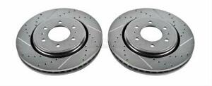 Power Stop Ar 85108xpr Brake Rotor Drilled slotted Zinc Vented Ford Pair