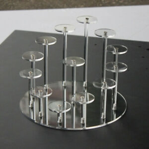 Acrylic Transparent Removable Display Stand Model Perspex Stands Storage Shelf