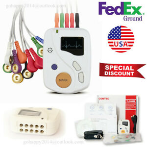Usa 12 lead Dynamic Ecg Systems 48 hour Recorder Analyze Ecg Holter Pc Software