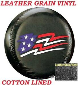 13 Diy Trailer Spare Tire Tyre Cover American Flag Heavy Duty Vinyl Material S