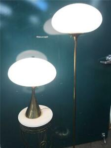 Vintage Mid Century Modern Laurel Lamp Mushroom Shades Table Floor Lamp Lot