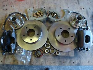 1961 1962 Chevy Impala Big Zero Offset Front Disc Brakes Bolts To Stock Spindles