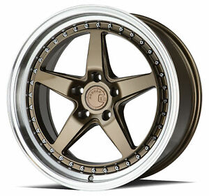 Aodhan Ds05 Ds5 18x8 5 18x10 5 5x114 3 35 15 Bronze Wheels 4 18 Inch Staggered