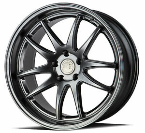 Aodhan Ds02 Ds2 19x11 5x114 3 22 Hyper Black Wheels 4 19 Inch Rims