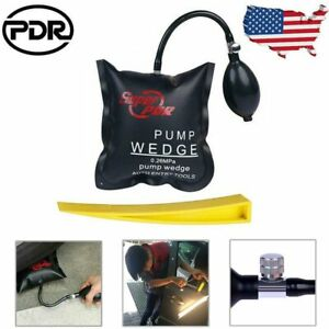 Us Auto Air Pump Wedge Inflatable Airbag Shim Entry Lockout Pry Bar Pdr Tool Kit