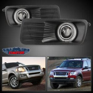 Fit Ford Explorer Sport Trac 07 10 Clear Lens Pair Fog Light Halo Projector