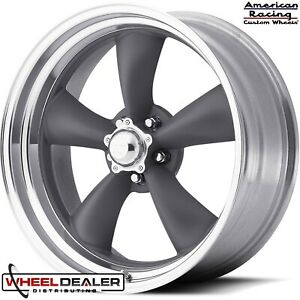 17x8 17x9 5 Gray American Racing Vn215 Wheels Rims For Chevy Camaro 1970 1981