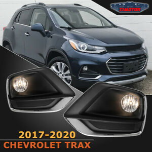 Fit 17 20 Chevy Trax Pair Oe Fog Light Lamp wiring switch Kit Dot Clear Lens
