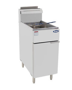 Atosa Deep Fryer 40 Lb 3 Burners Propane Atfs 40 lp With Wheels