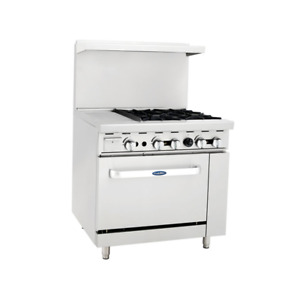 Atosa Ato 12g4b ng 12 Griddle 4 Burners Nat Gas Range Single Oven Free Casters