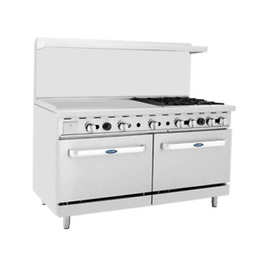 Atosa Ato 36g4b ng 36 Griddle 4 Burners Nat Gas Range 2 Oven Free Casters