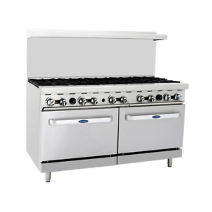 Atosa Ato 10b ng 10 Burners Nat Gas Range 2 Oven Free Casters Free Lift Gate