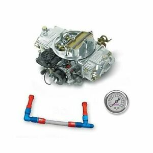 Holley 670 Cfm Street Avenger E c Carburetor Blu Braided Fuel Line Pro Pack