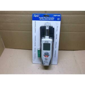 Supco Dsp1000 Digital Psychrometer With Dew Point Wet Bulb