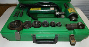 Greenlee 7306sb Slug Buster 1 2 2 Including Hydraulic 767 Pump 7306 Case