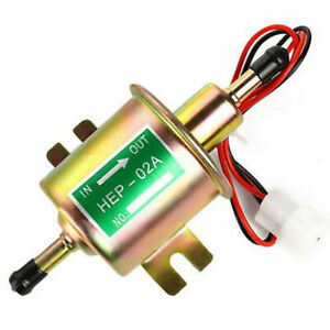 Universal Fuel Pump Hep 02a New Gold Electric Gas Diesel Inline Low Pressure 12v