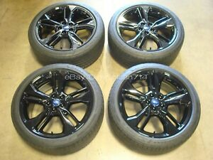 19 2017 19 Ford Fusion Sport Black Wheels Rims Oem Tires Factory 10123
