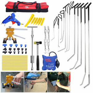 53pcs Pdr Push Rods Kit Lifter Slide Hammer Paintless Dent Removal Repair Tools
