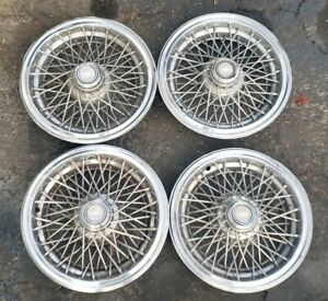 Oem 1986 1996 Chevy Caprice Classic 15 Wire Spoke Hubcaps Wheel Covers No Locks