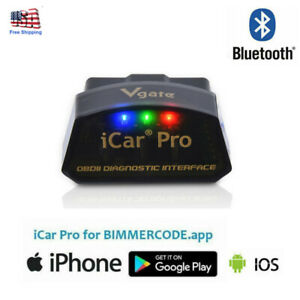 Vgate Icar Pro Bluetooth Ble 4 0 Bimmercode Bmw Coding Iphone Ipad Android Obd2
