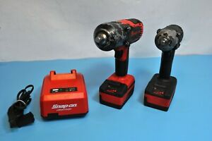 Snap on 1 2 3 8 18v Lithium Cordless Impact Wrenches Ct8850 Ct8810 2 4 0 Ah