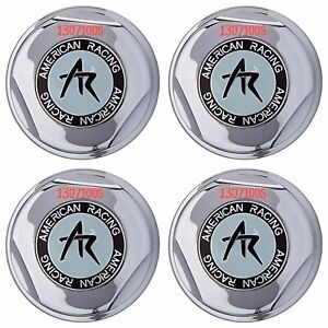 4 American Racing Plastic Chrome Center Caps 6 Lug Ar Rims 4x 1307100s