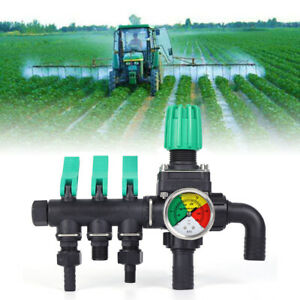 3 Way Water Splitter Valve Agricultural Sprayer Control Accessory 2 0mpa Durable