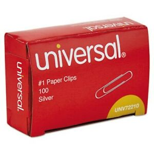 Universal Paper Clips Small No 1 Smooth Silver 12000 Clips unv72210ct