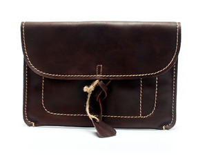 File Folder Pocket Cow Leather Messenger Bag Briefcase Pouch Handmade Coffee 800
