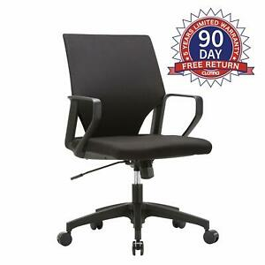 Clatina Ergonomic Mid back Upholstered Swivel Task Chair Arm Rest For Office