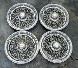 Set Of 4 Oem 1981 1985 Chevy Caprice Classic 15 Wire Spoke Hubcaps Wheel Covers