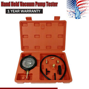 New Fuel Pump Vacuum Tester Carburetor Valve Pressure Gauge Kit Professional