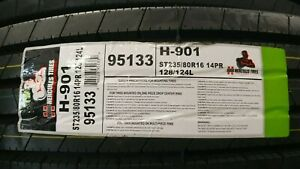 St235 80r16 Hercules H 901 Asc All Steel Trailer Tires Lrf 14ply 2358016 95133