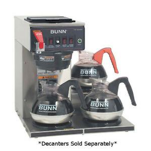 Bunn 12950 0212 Cwtf15 3 Automatic 3 9 Gallons Per Hour Coffee Brewer