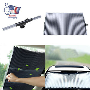 Retractable Car Windshield Sun Shade Curtain Uv Protection Sun Visor Block Cover