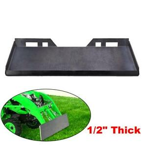 1 2 Thick Quick Tach Mount Plate Attachment For Kubota And Bobcat Skid Steers