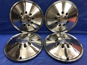 Vintage Set Of 4 1970 72 Plymouth 14 Hubcaps Barracuda Duster Valiant Good Cond