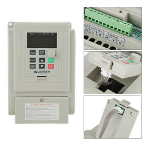 1 5kw Vfd 8a 220v Ac Single Phase To Three Phase Variable Speed Drive Inverter