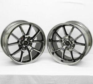 20 Black Chrome Mustang Fr500 Wheels Staggered 20x8 5 20x10 5x114 3 2005 2020