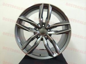 Full Set 19 Gunmetal Rs6 S Line Style Rims Wheels Fits Audi Quattro Vw Jetta