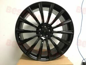 Set Of Four 20 Mercedes Benz Black S Amg Style Rims Wheels Fits S500 S550 S400