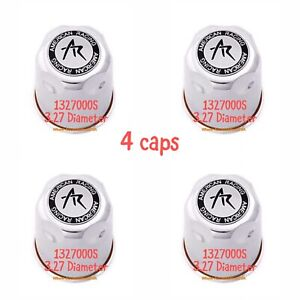 Set 4 1327000s Chrome American Racing Wheel Center Caps 3 27 Push Through