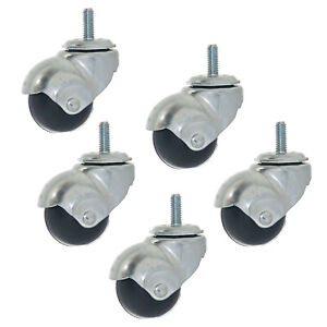5 pack Ball Caster Wheel 1 5 8 Threaded 5 16 Stem Swivel Furniture Roller