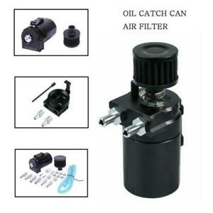 New Oil Catch Reservoir Breather Can Tank Filter Kit Cylinder Aluminum Engine