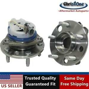 Two New Front Wheel Hub And Bearing Assembly Set For Buick Chevy Pontiac W Abs